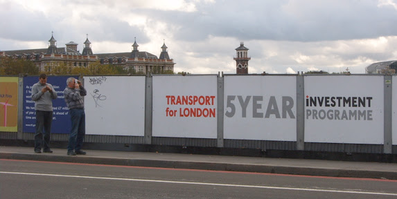 Transport For London Posters at Westminster Bridge