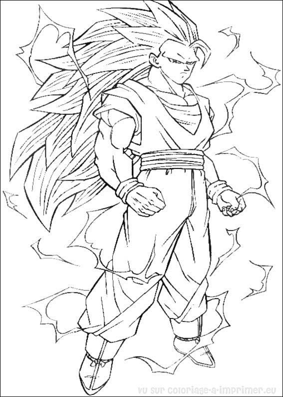 Coloriage à Imprimer Coloriage Dragon Ball Z 008