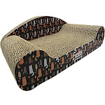 Evelots Kitty Cat Scratcher-Lounger-Groom Claws-Corrugated Cardboard Couch 6803