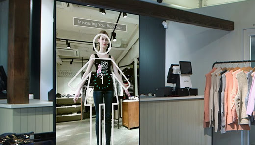 Futuristic dressing room - innovative retail and marketing solution