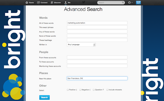 Sourcing Candidates with Twitter's Advanced Search