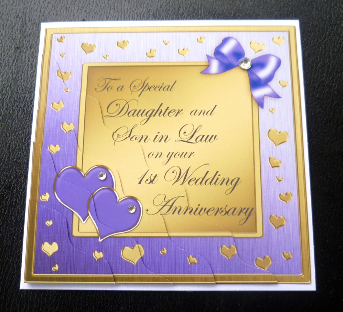 Daughter Son In Law 1st First Wedding Anniversary Card 4 Colours