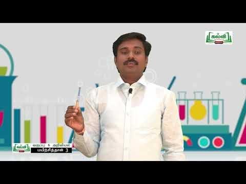 6th Science பயிற்சிப் புத்தகம் நம்மைச் சுற்றியுள்ள பருப்பொருள்கள் அலகு 3 Kalvi TV