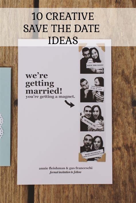 10 Creative Save The Date Ideas You'll Love