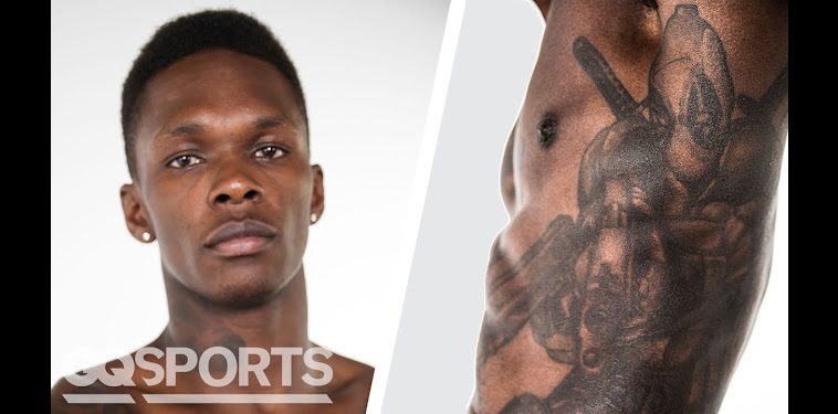 Israel Adesanya Tattoos Deadpool