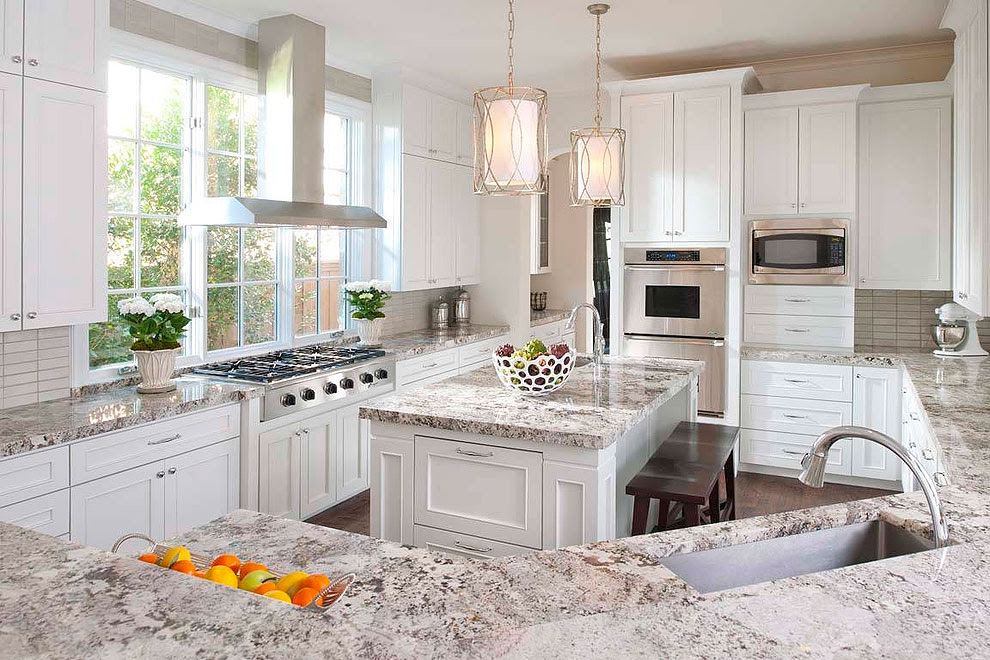 35 Exciting White Granite Kitchen Countertops Ideas Projects