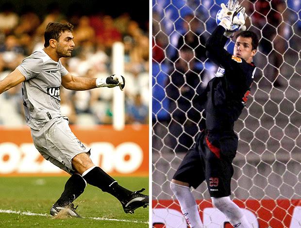 Montagem: Diego do Ceará e Marcelo Lomba do Flamengo
