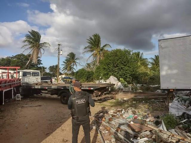 Polícia prende dono de oficina suspeito de desmontar e adulterar caminhões roubados