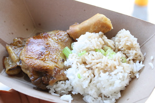 Chicken Adobo and Lumpiang Shanghai