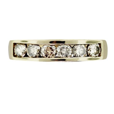 14K Yellow Gold 6 Stone Diamond Wedding Band Boca Raton