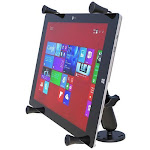 "RAM Universal X-Grip Cradle for 12"" Tablets Flat Surface Mount Kit by PilotMall.com"