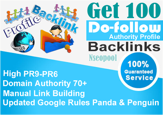 Manually Create 100 Authority Profile Backlinks PR10 To PR6 for $5