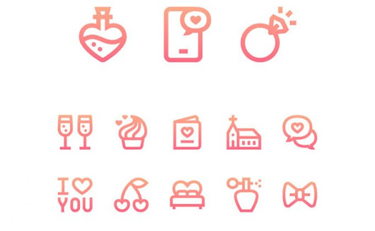 50 Free lovely valentines day icons set | Creative Nerds