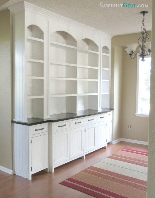 Dining room built-in buffet reveal - Sawdust Girl®