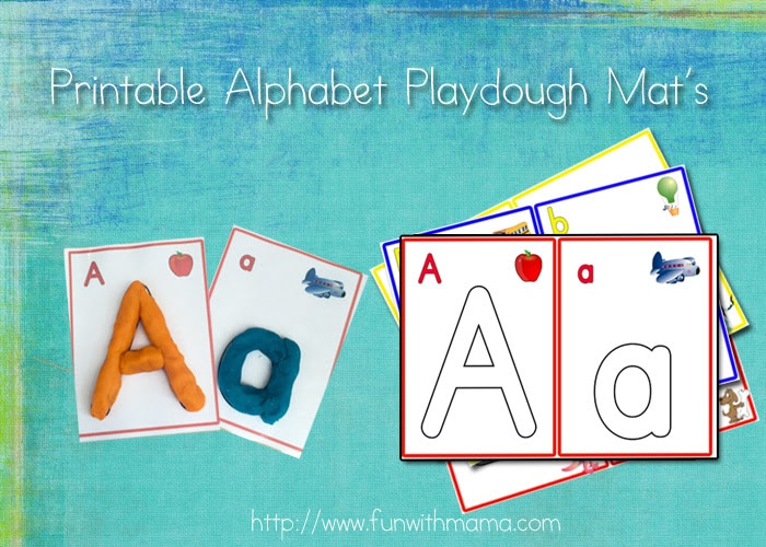Alphabet Letter Crafts Play Dough Mats, Numbers, and Arabic ...