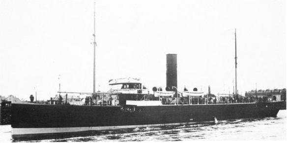 HMS Tamarisk -- armed merchant ships gave German sub crews some nasty surprises. (Image source: WikiCommons)
