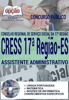 Apostila Concurso Cress-ES 2016 ASSISTENTE ADMINISTRATIVO