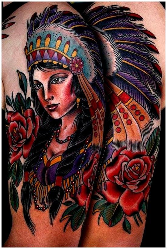 37 Diseños De Tatuajes De Indios Aborígenes Y Caciques