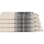 Amber Linen Turkish Hand / Kitchen Towel Bundle, Black