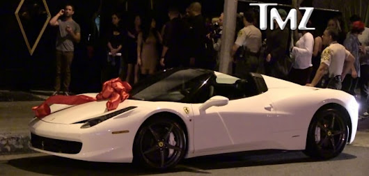 Tyga Gets Kylie Jenner A 458 Spider For Her Birthday