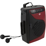Dpi-Gpx-Personal & Portable CAS337B Cassette Player Red & Black - 3.54 x 1.57 x 4.72 in.