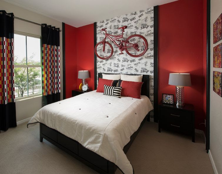 Image result for dull red teen rooms