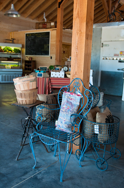 Inside the farm stand at the Barn