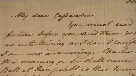 BBC News - Jane Austen letter set to be sold by Torquay Museum