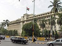India's largest flag atop the Mantralaya building in Mumbai.