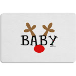 Matching Family Christmas Design - Reindeer - Baby 12 x 18 Placemat by TooLoud Set of 4 Placemats