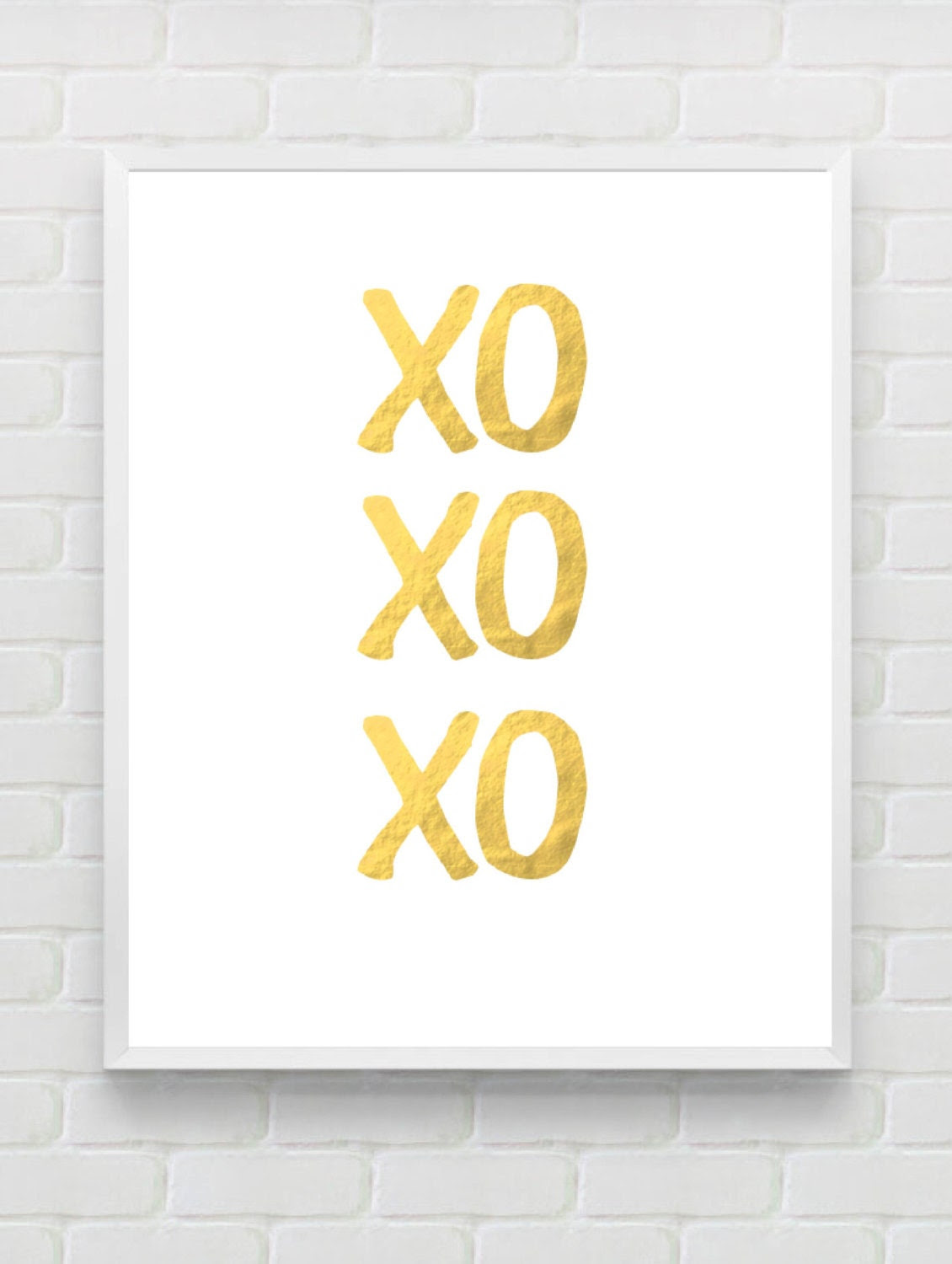 Gold Foil Print XO Print Instant Download Gold by Designsbyritz