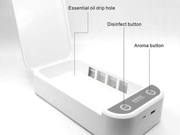 USB-Powered UV Phone Sterilizer with Aromatherapy for $36