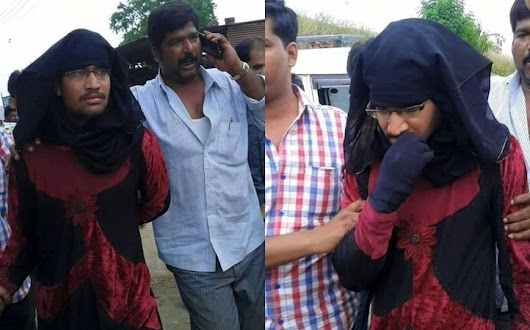 Pictures of burqa-clad alleged RSS activist caught throwing beef inside temple goes viral