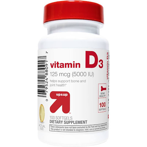 Up & Up Vitamin D3 Dietary Supplement Softgels - 100 count