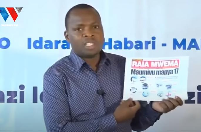 Tanzanian authorities suspend Raia Mwema newspaper for 1 month