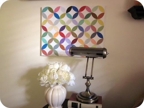 Circle Paint Chip Wall Art 019