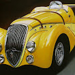 Cherry Kelley Classic Power Cars Paintings - Joelle Magazine