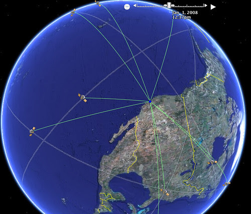 Google GPS satellites