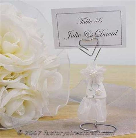 Wedding Dress Placecard Holder   Place Cards and Holders