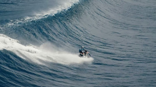 Watch Robbie Maddison Ride His MX ON THE WAVES OF TAHITI