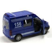 Işıklı Ve Müzikli 148 çek Bırak Metal 156 Jandarma Minibüsü Mavi
