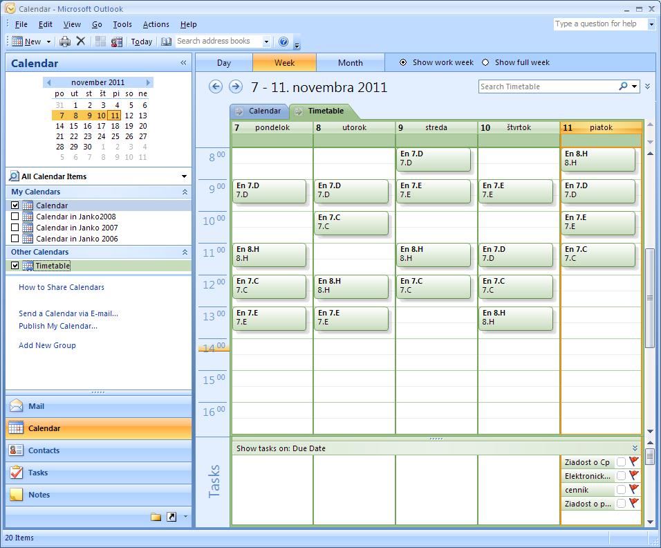 Add timetable to your calendar application (Google calendar ...