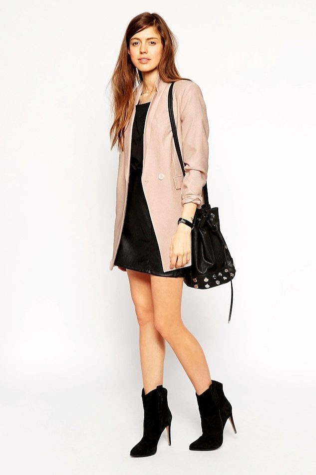 Le Fashion Blog Must Have Chic Versatile Blush Blazer Jacket Black Tee Studded Bucket Bag Leather Skirt Ankle Boots Budget Friendly Work Style