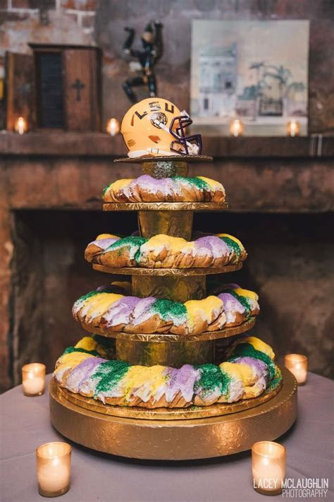 King Cake for the Groom's cake, only in New Orleans