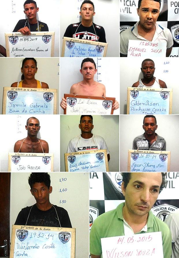 11 dos 22 presos resgatados da Delegacia Regional de Zé Doca (MA) (Foto: Divulgação / SSP-MA)