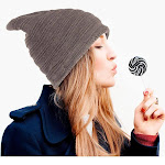 Beanie Hat for Men and Women by Zodaca Fashion Design Unisex Insulated Warm Winter Stretchy Knit - Brown