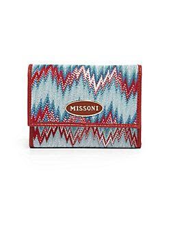 Missoni Flame Stich Trifold Wallet