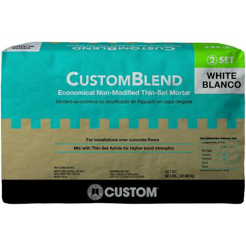 Google Express Custom Building Products CBTSW Lb White Custom - Custom blend thin set mortar