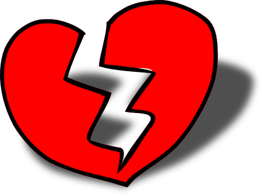 Image result for breaking heart clipart