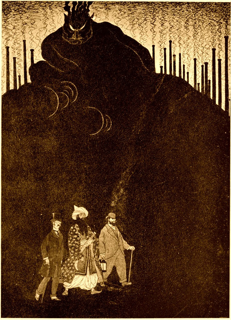 Sidney Sime - Guided By Ali, All Three Set Forth For The Midlands (1916)